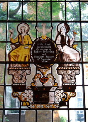 Elizabeth Barrett and Robert Browning commemorative window