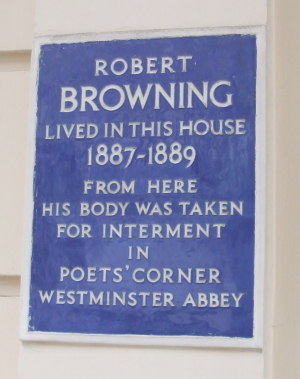 Robert Browning plaque by Steve Hunnisett