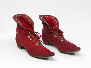 Boots worn by Henry Irving in Richard III 1877 VA